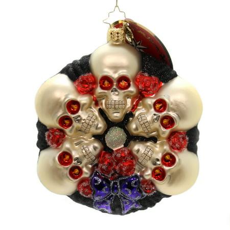 Halloween Spooking (Christopher Radko SPOOKING AROUND Glass Halloween Skulls)