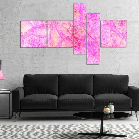 DESIGN ART Designart 'Rose Fractal Dramatic Clouds' Abstract Canvas Art Print