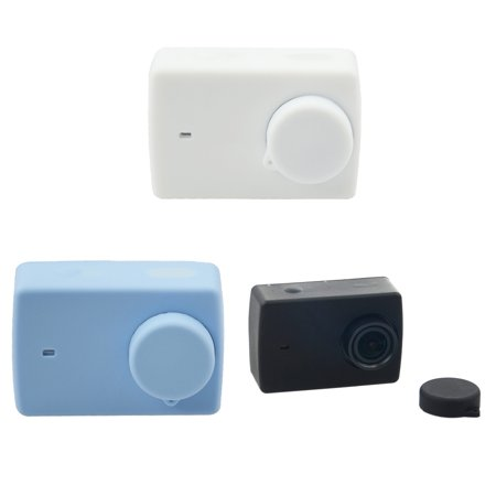 Homeholiday Candy Color Replacement for Xiaomi Yi 2 Action Camera Soft Silicone Protect Case Skin and Lens Cap Cover - image 2 of 8