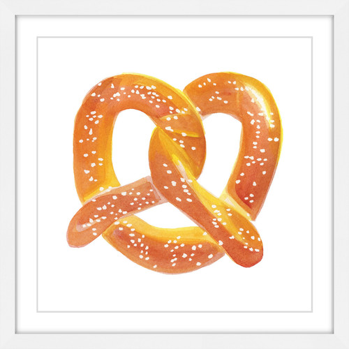 """Marmont Hill """"Pretzel"""" by Molly Rosner Framed Painting Print"""