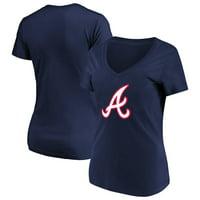 d83ecbc880d Product Image Women s Majestic Navy Atlanta Braves Top Ranking V-Neck T- Shirt