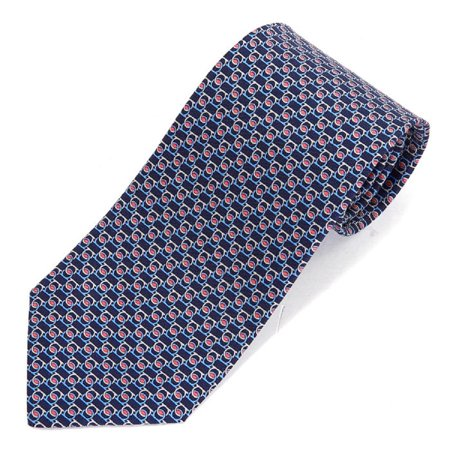 Ferragamo Necktie (Salvatore Ferragamo Men's Blue Gray Red Gancini Neck Tie )