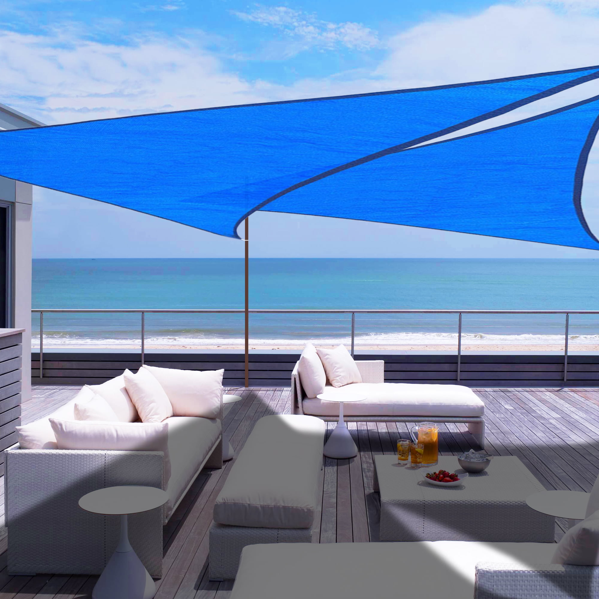 Be Cool Solutions 50/% White Outdoor Sun Shade Canopy: UV Protection Shade Cloth| Lightweight Patio /& Porch 6x12 Easy Setup Mesh Canopy Cover with Grommets| Sturdy Durable Shade Fabric for Garden