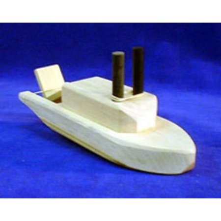 Mountain Craft Shop Paddlewheel Boat Classic Wooden Folk Art Wood Toy (Folk Art Halloween Crafts)