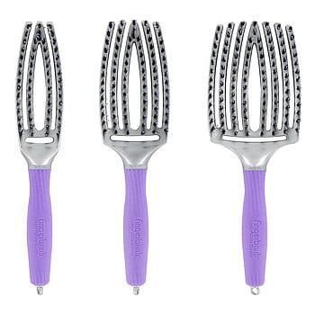 Olivia Garden Finger Brush Curved&Vented Paddle Brush, 3 Sizes (Small)