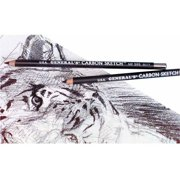 General's Round Carbon Sketch Pencil, 4B Soft Tip, Black, Pack of 12