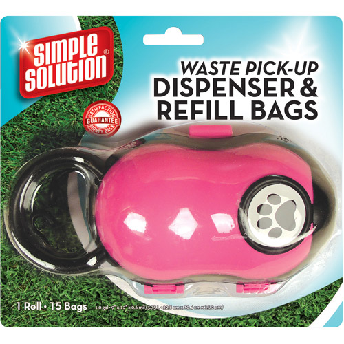 Simple Solution Waste Pick Up Dispenser & Refill Bags, 15ct