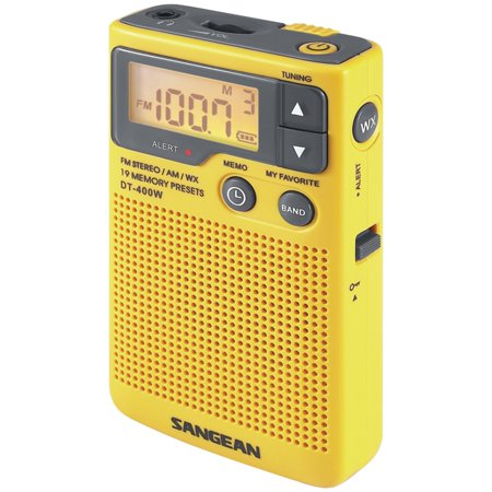 Sangean DT-400W Digital AM/FM Pocket Radio with Weather