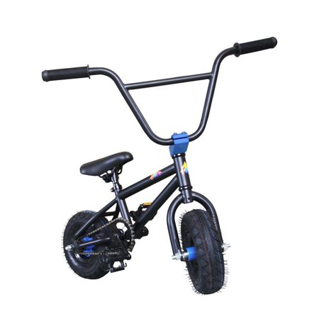 "KOBE Mini BMX Trick Bike - Off-Road to Skate Park, Freestyle, Trick, Stunt Bicycle 10"" Wheels for Adults and Kids - Blue - image 1 de 4"