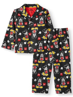 Mickey Mouse Toddler Boy Coat Style Pajamas, 2-Piece Set