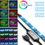 Led Strip lights, TSV 16 colors Bias Lighting for 32-60 inch HDTV RGB USB Powered LED Light Strip with 3 Key Controller, TV Backlight Kit for Flat Screen TV, PC