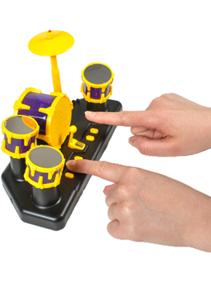 Finger Drum Set Toy Table Top Musical Portable Instrument by Rhode Island Novelty