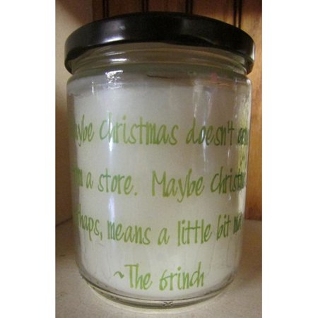 "Star Hollow Candle Company ""Maybe Grinch"" Evergreen and Citrus Jar Candle"