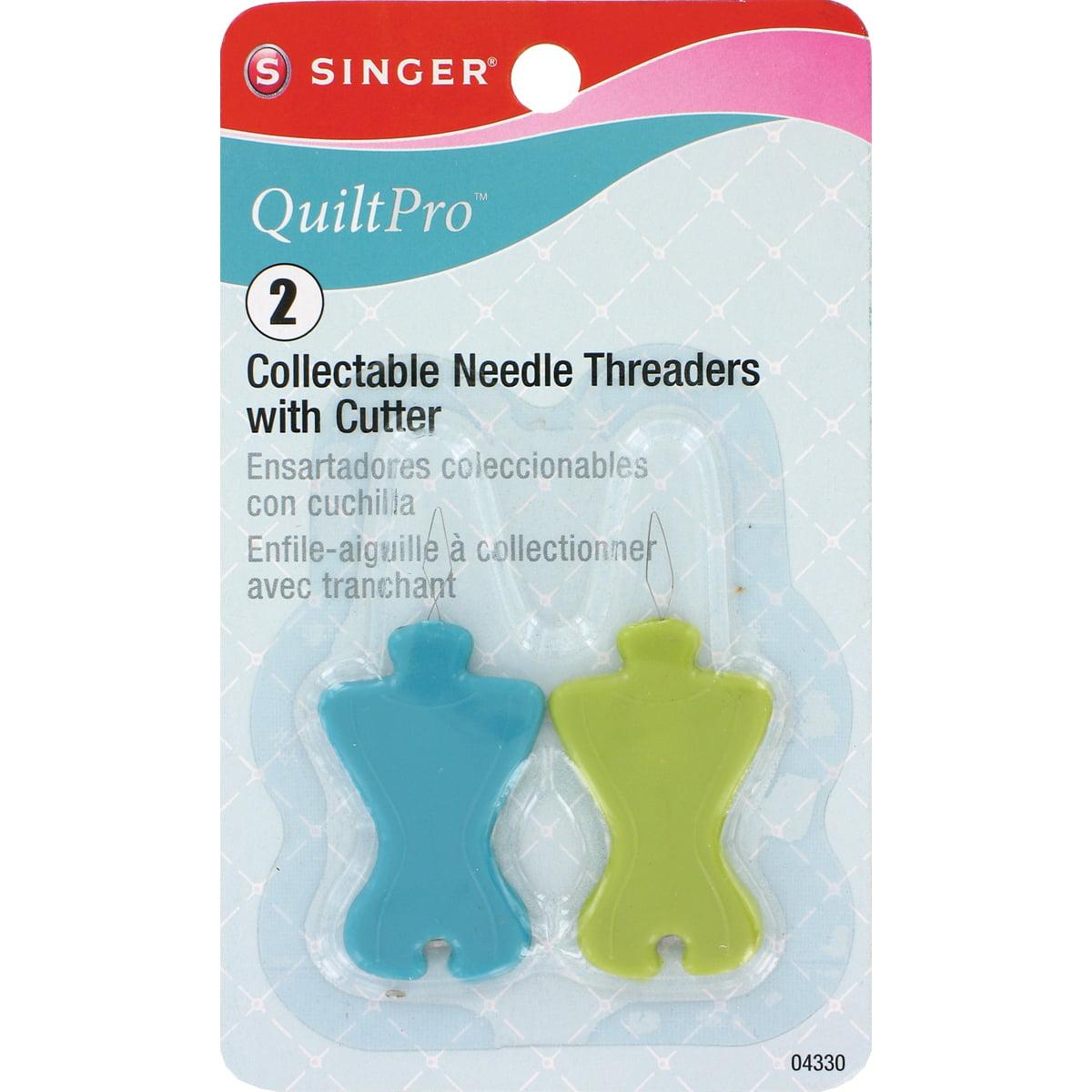 Singer QuiltPro Collectable Needle Threaders W/Cutter-2/Pkg
