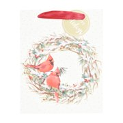 Holiday Time Gift Bag, Holly Berry Wreath