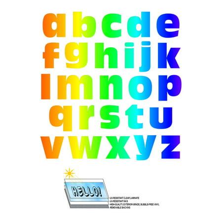 Alphabet Letters Lowercase Rainbow SLAP-STICKZ(TM) Premium - Letter Stickers