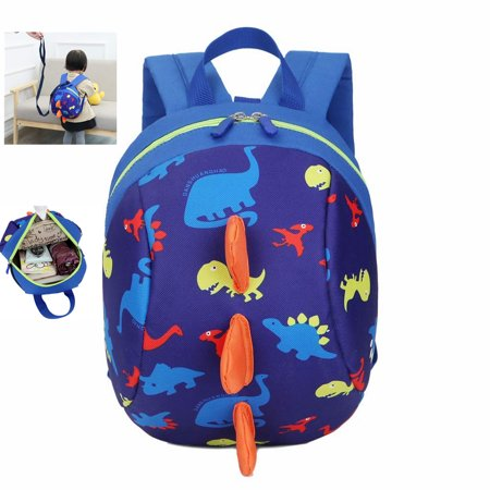 Dinosaur Children Backpack with Leash,Cartoon Dinosaur Children Backpack Cute Anti-lost Schoolbag with Safety Harness for Toddler Baby boys girls1-4 (Best Baby Backpacks 2019)
