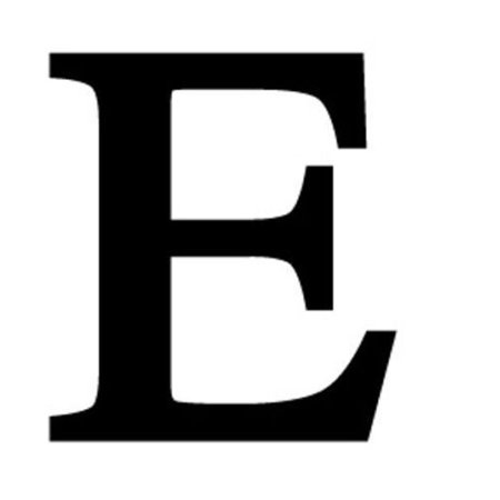 Letter E Black METAL 12 Inch Wrought Iron Signage Home Wall Art Plaque Name Sign Decoration