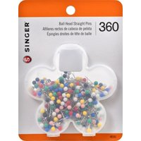Singer Ball Head Quilting Pins in Flower Case, 360 Piece