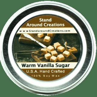 Warm Natural - WARM VANILLA SUGAR TIN 4-OZ. ALL NATURAL SOY CANDLE
