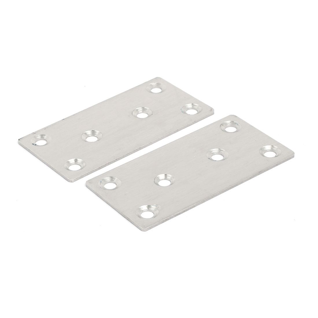 80mmx40mmx2mm Stainless Steel Flat Mending Repair Plate Fixing Bracket 50pcs - image 1 of 3