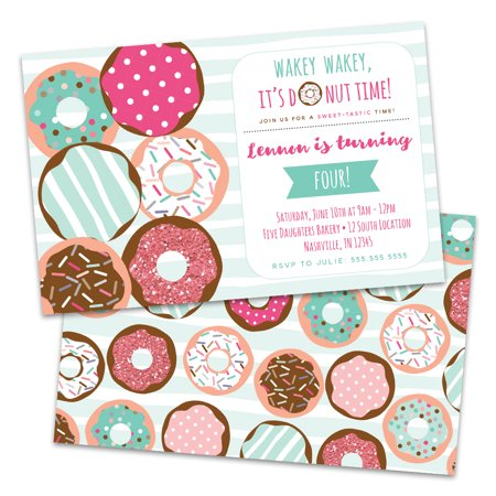 Donut Party Invitations (Personalized Donuts Birthday Party)