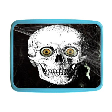 Skull Yellow Eyes Kids Bento Lunch Box with 3 Compartment Food Container ()