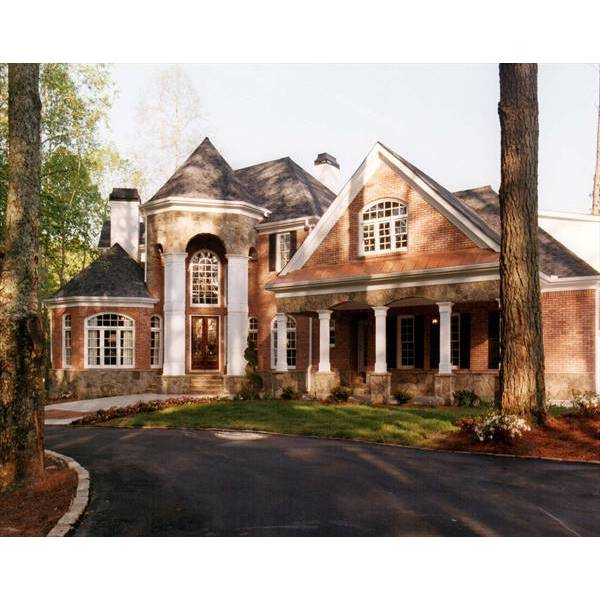 TheHouseDesigners-6001 Colonial House Plan with Walk-out Basement Foundation (5 Printed Sets)