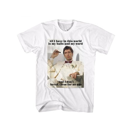 Scarface Movies Break Adult Short Sleeve T Shirt