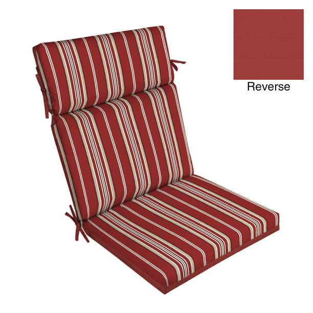 Better Homes Gardens Red Stripe 44 X 21 In Outdoor Chair Cushion Walmart Com Walmart Com