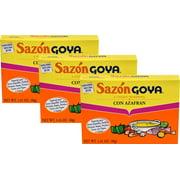 Sazon Goya with Saffron (Azafran) 1.41 oz Pack of 3
