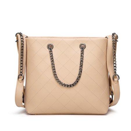 2f69611f8969 Women PU Leather Designer Handbags High Quality Shoulder Bags Ladies  Handbags Fashion Brand PU Leather Women Bags - Walmart.com
