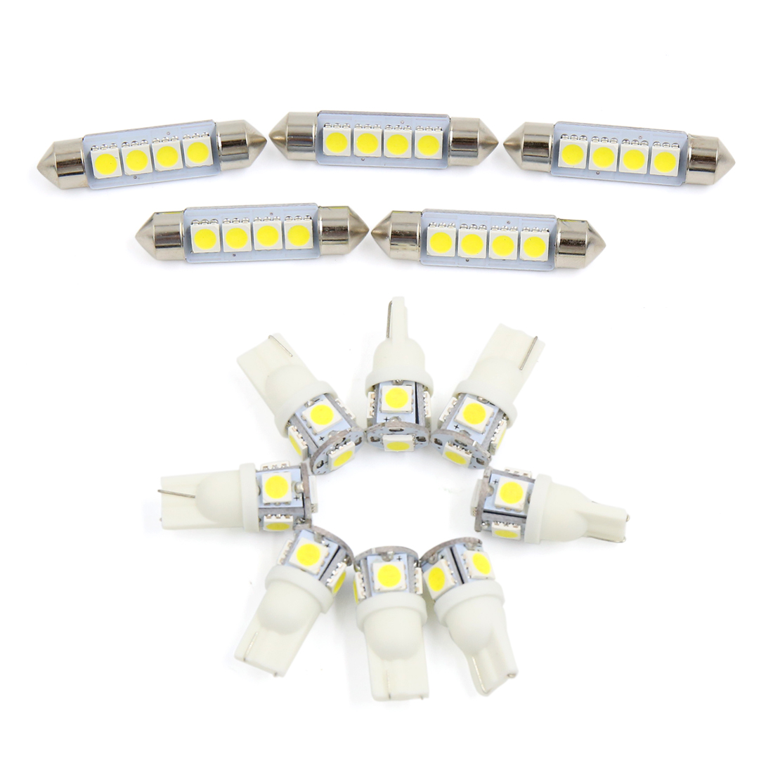 13x for Ford F150 4 DOOR 2004-2012 White Car Interior Dome Map LED Light Kit