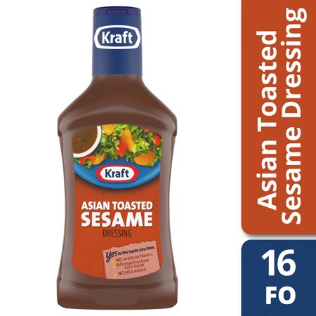(3 Pack) Kraft Asian Sesame Dressing, 16 Fl Oz Bottle