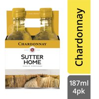 Sutter Home Chardonnay White Wine 187 ML 4-Pack