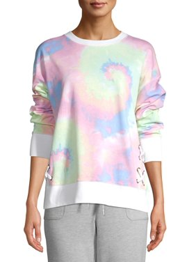 Secret Treasures Women's and Women's Plus Lace-Up Pullover Sweatshirt