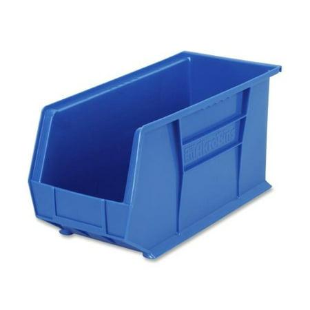 Akro-Mils Bins, Unbreakable/Waterproof, 8-1/4\x18\x9\, Blue