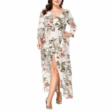 Noroomaknet - Noroomaknet Womens Dresses Plus Size Autumn,Long Maxi ...