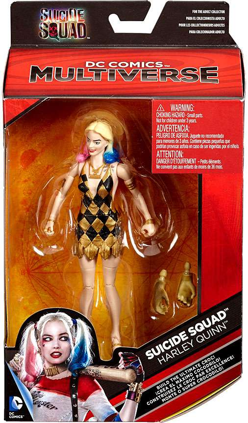 DC Multiverse Killer Croc Series Harley Quinn Action Figure [Gold & Black Dress] by Mattel
