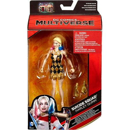 DC Multiverse Killer Croc Series Harley Quinn Action Figure [Gold & Black Dress]