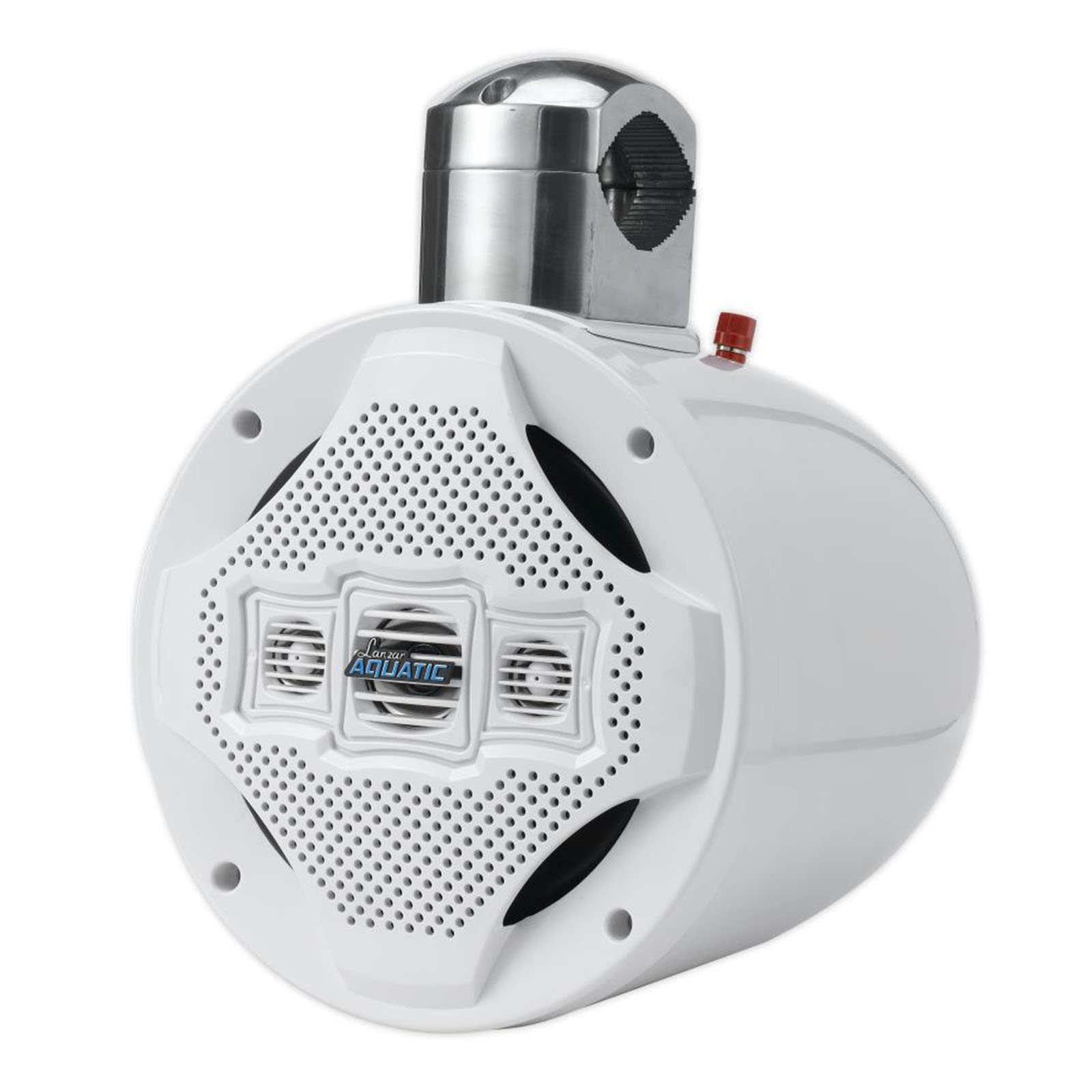 """8"""" Marine Wakeboard Speaker, Water Resistant 4-Way Tower Speaker, 1200 Watt (White)"""