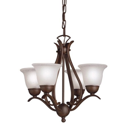Kichler Dover Mini Chandelier - 18W in. Tannery Bronze