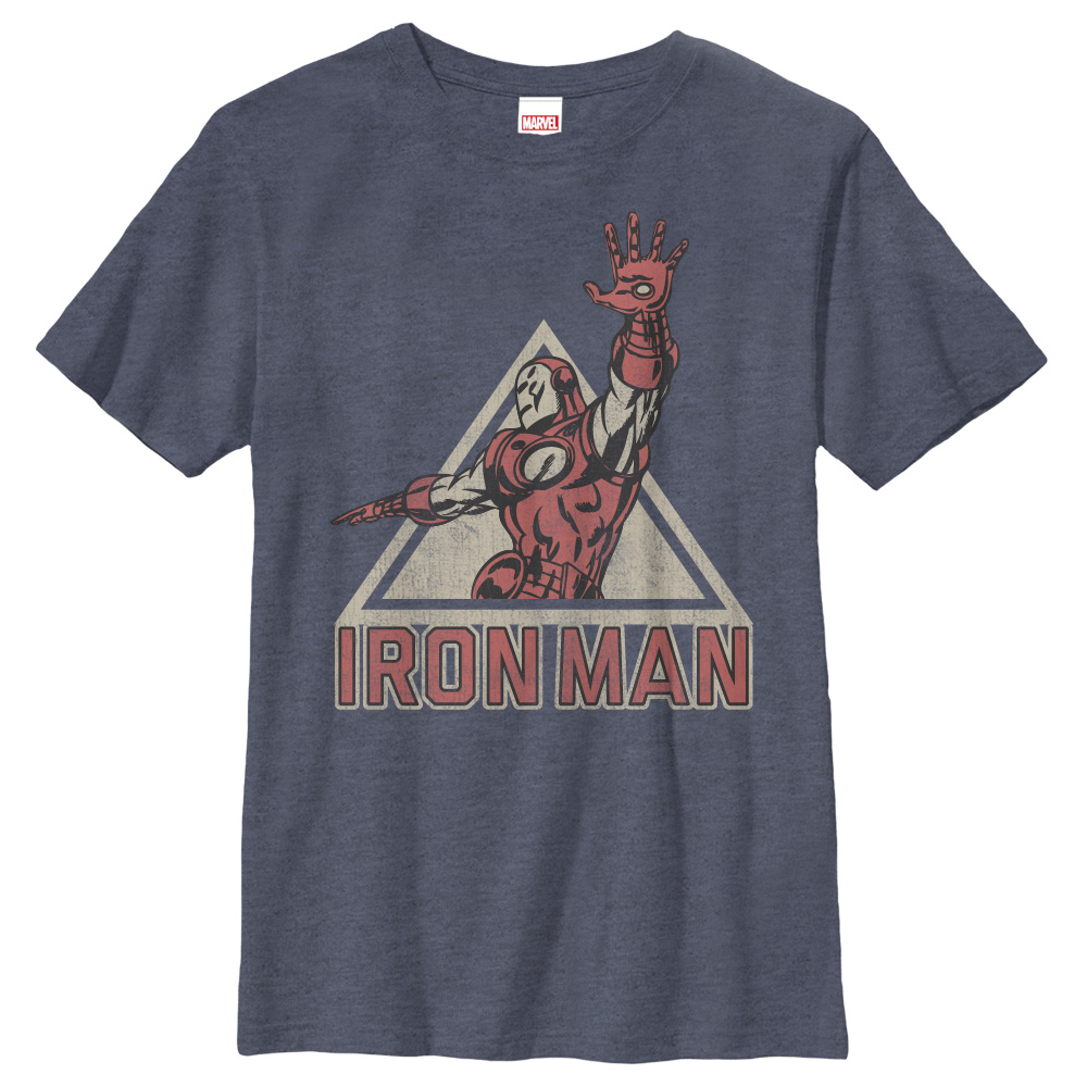 Marvel Boys' Triangle Iron Man T-Shirt