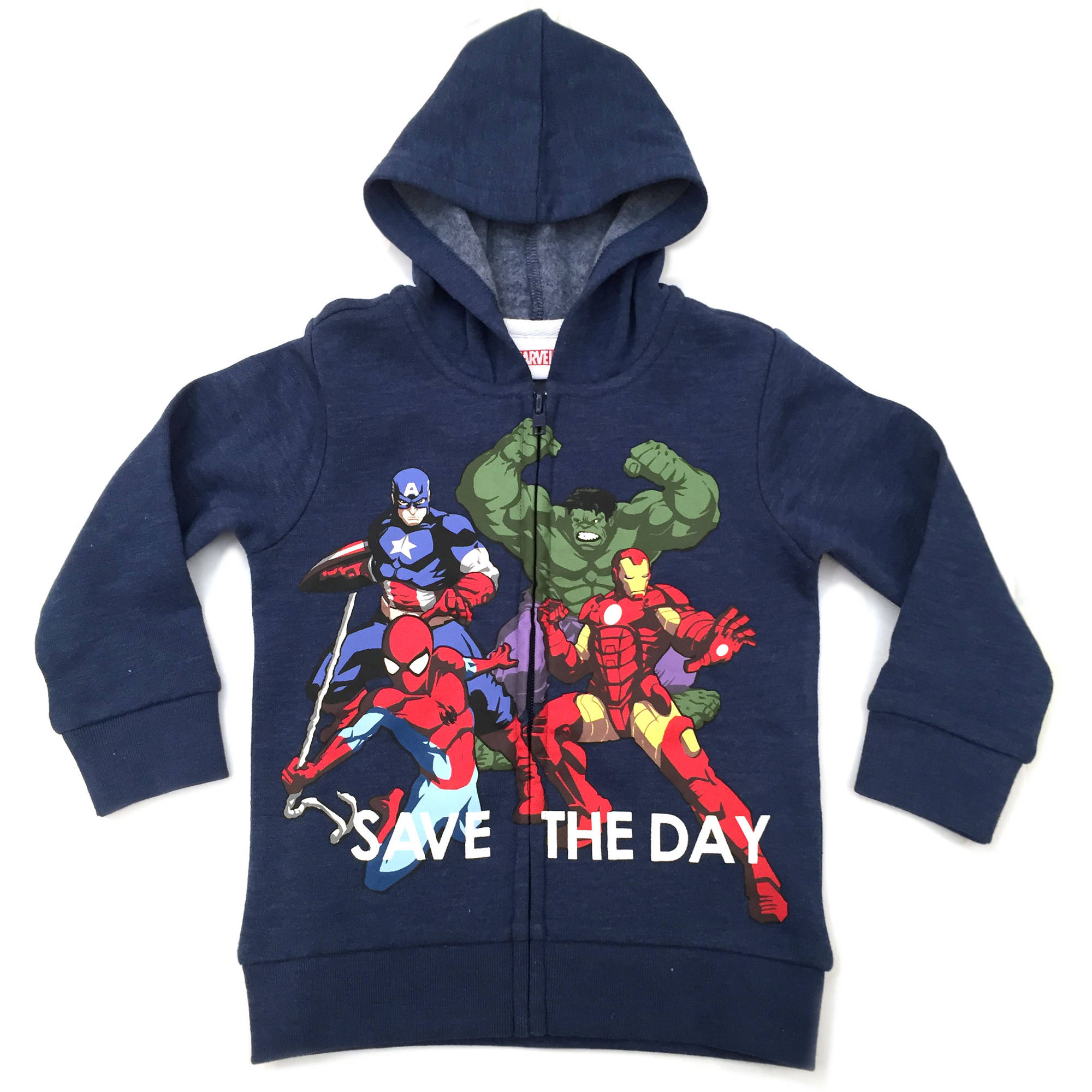 Avengers Toddler Boy Heros Unite Fleece Zip Hoodie