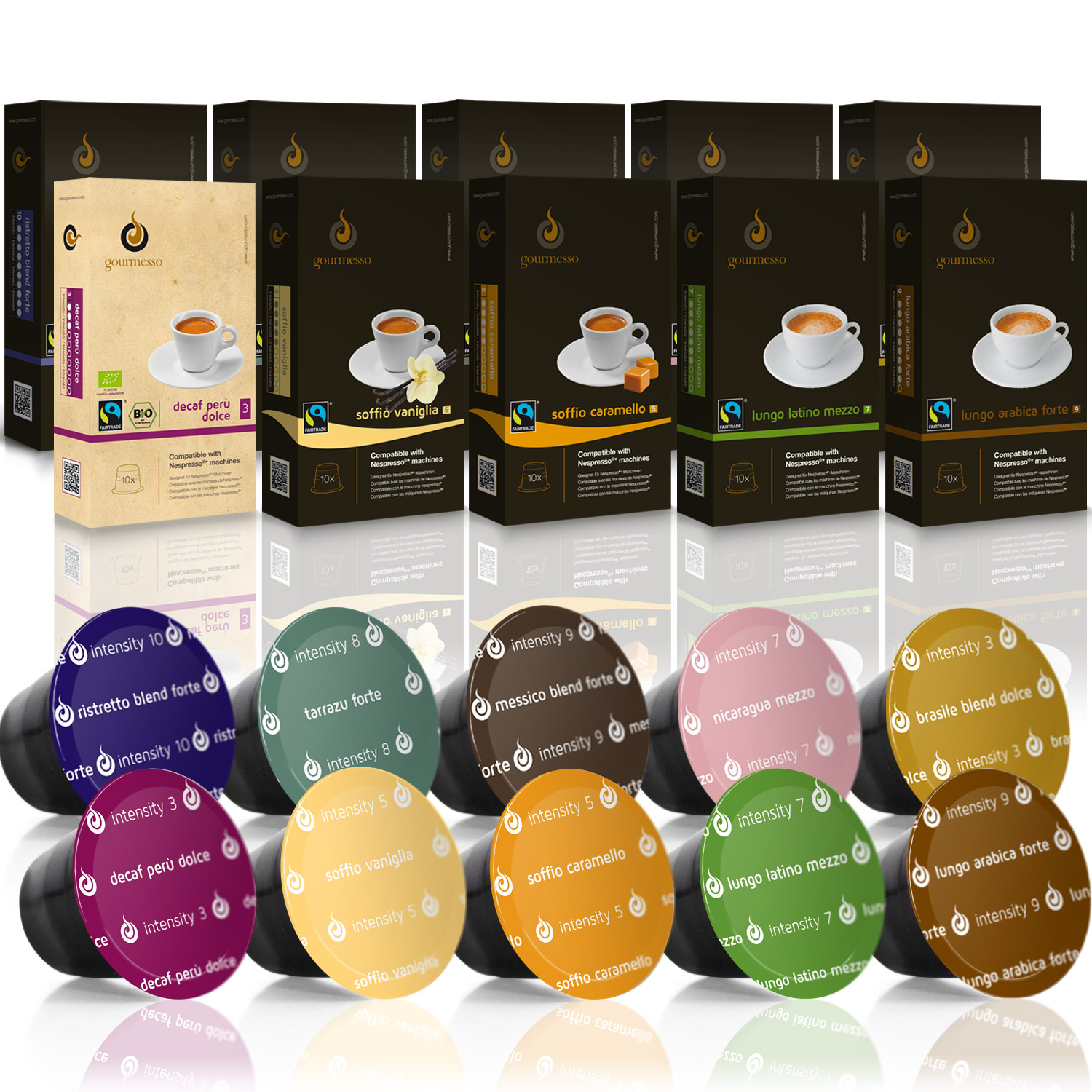 gourmess trial bundle 100 nespresso compatible coffee capsules