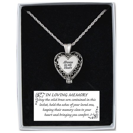 Always in My Heart Memorial Ash Holder Locket - image 1 of 3