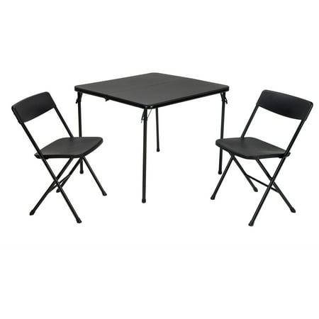 - Cosco 3-Piece Centerfold Table and 2 Chairs, Indoor/Outdoor Tailgate Set, Multiple Colors