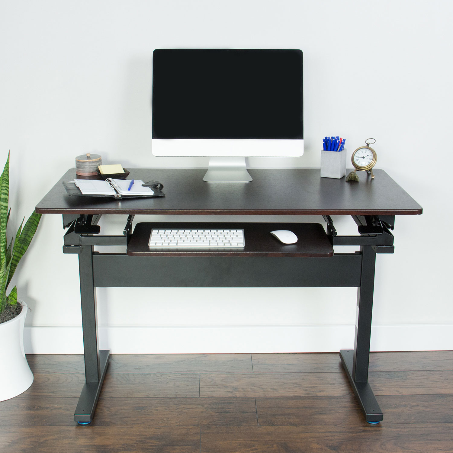 xec-FIT Full Size Hydraulic Adjustable Sit to Stand Up Workstation Standing Desk