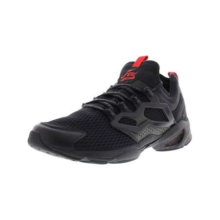Reebok Men's Fury Adapt Ac Black / Primal Red Ankle-High Fashion Sneaker - 11M Black Red Sneakers Shoes