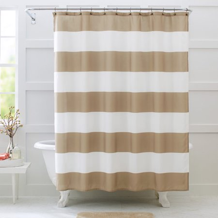 Better Homes And Gardens Porter Stripe Fabric Shower Curtain
